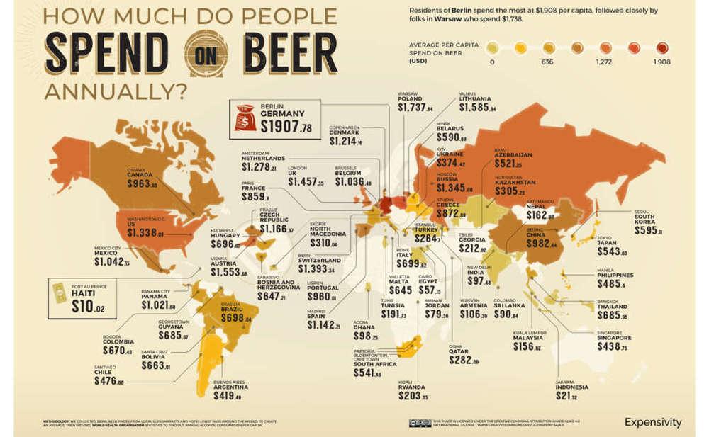 Mapa de la cerveza