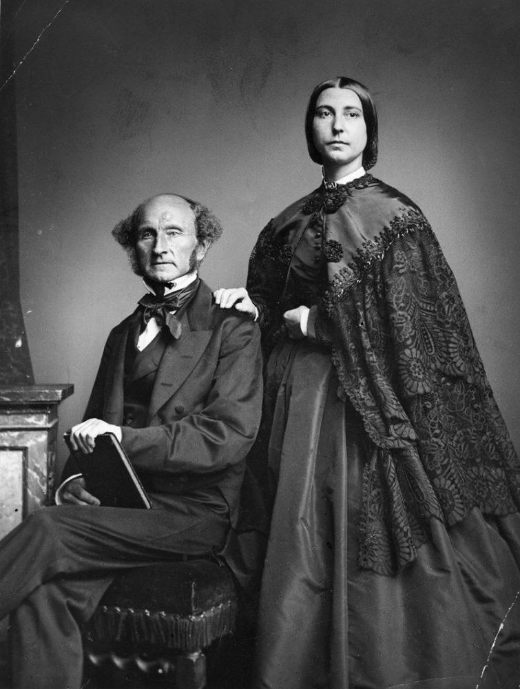 John Stuart Mill y su mujer