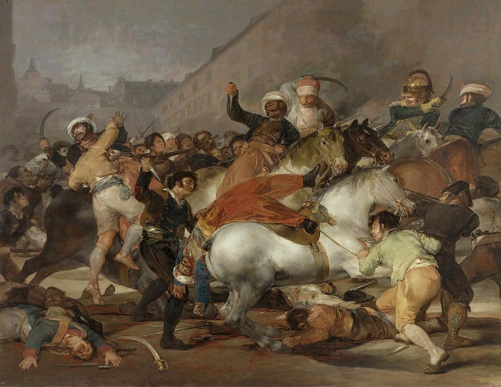 El levantamiento del 2 de mayo fue una protesta popular a la invasión de los franceses