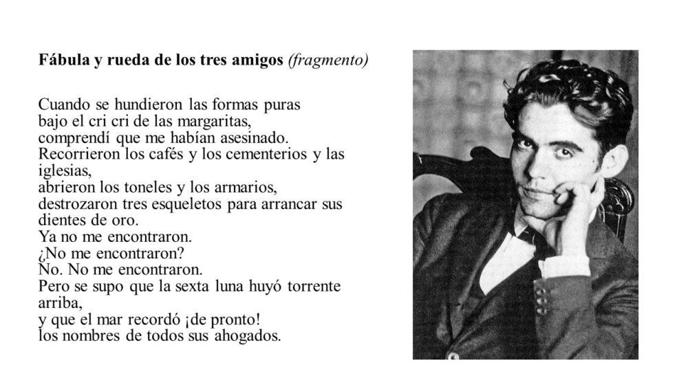 Durante los años 30 en España, y a causa de la Guerra Civil, Federico García Lorca fue asesinado
